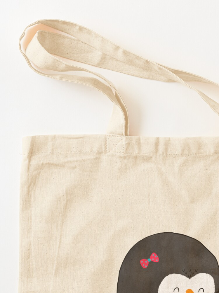 Alternate view of Mother Penguin's Love Tote Bag