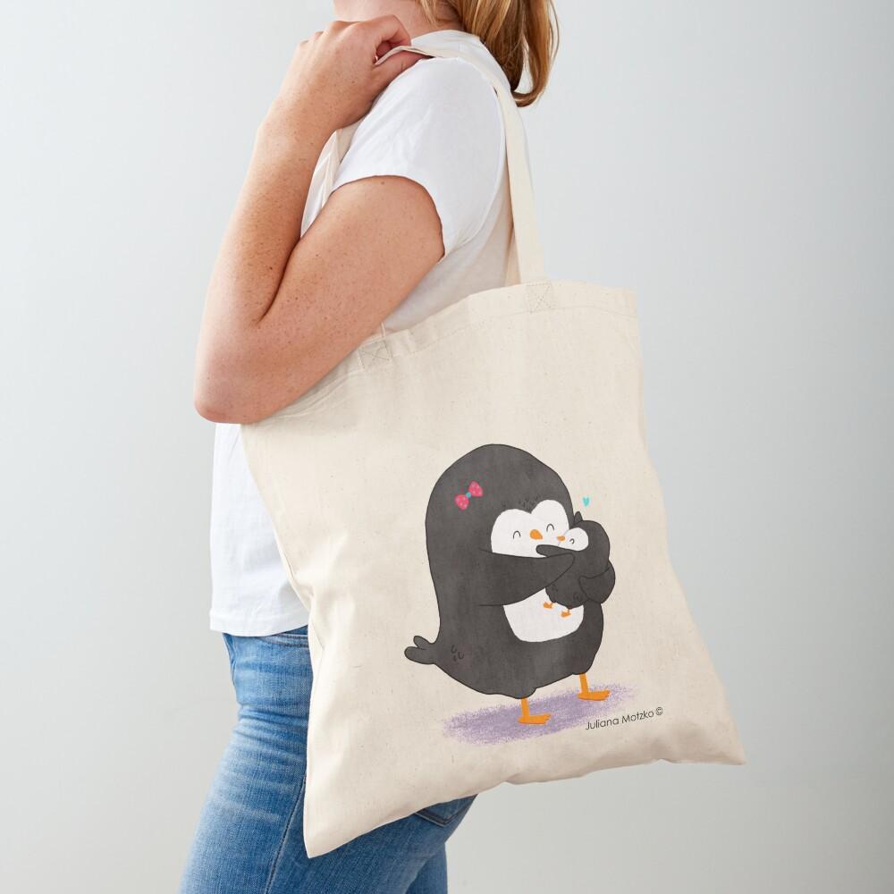 Mother Penguin's Love Tote Bag