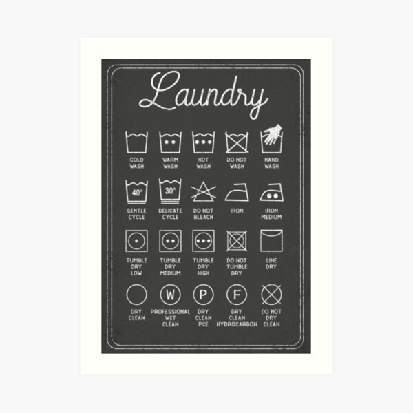 Laundry Symbols Wall Art Redbubble