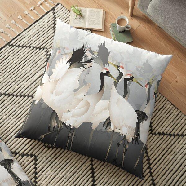 Japanese Crane Pillows Cushions Redbubble