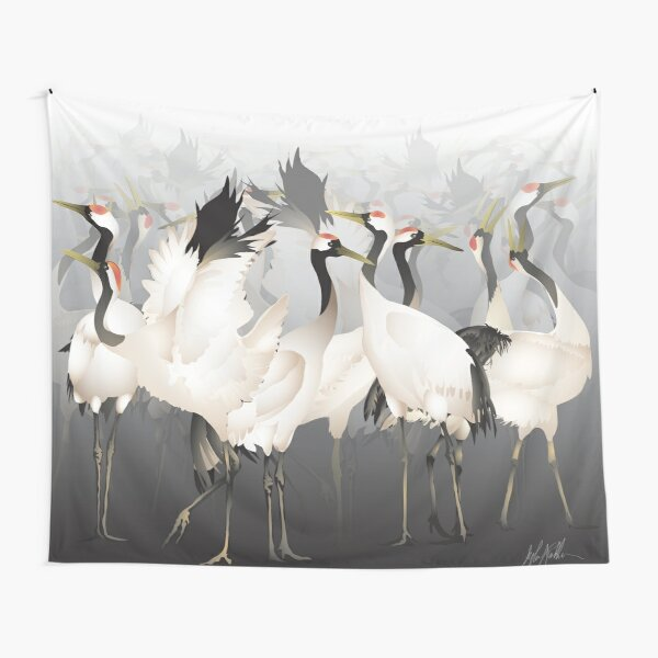1000 Lucky Cranes Tapestry