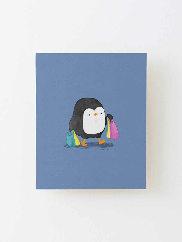Alternate view of Penguins love shopping! Mounted Print