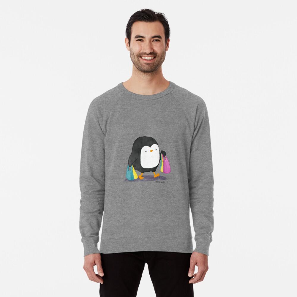 Penguins love shopping! Lightweight Sweatshirt