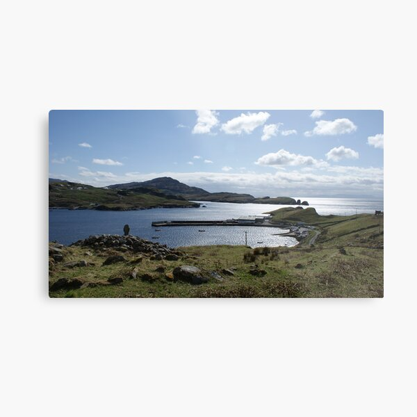 Teelin Pier from the Holy Well Metal Print