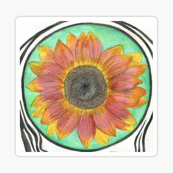 Sunflower Watercolor #1  Sticker