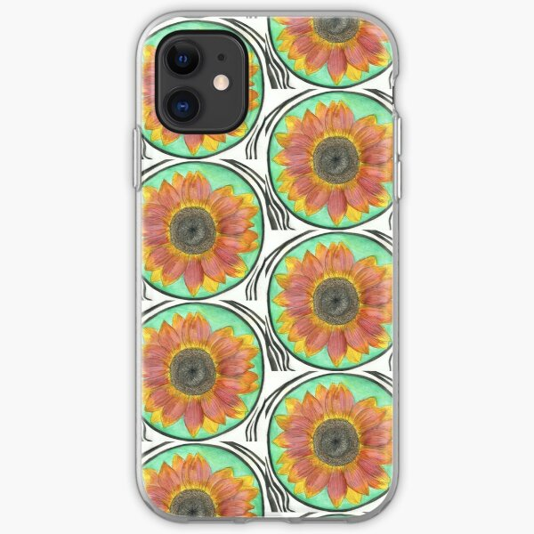 Sunflower Watercolor #1  iPhone Soft Case