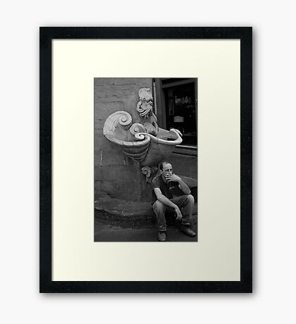 peoplescapes #286, smoko Framed Print