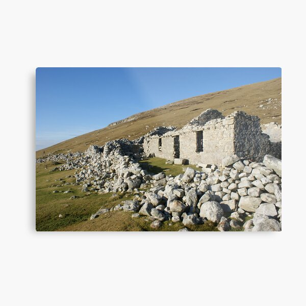 Old deserted house in Port Metal Print