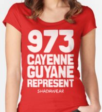 973 Cayenne, Guyane. Represent Women's Fitted Scoop T-Shirt