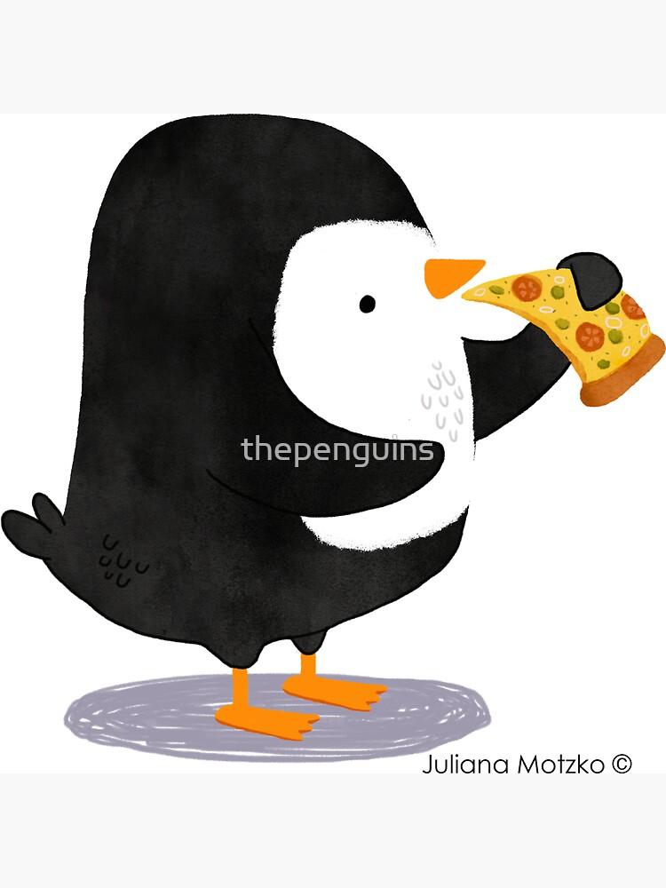 Steve Penguin loves Pizza! by thepenguins