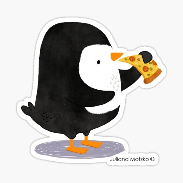 Steve Penguin loves Pizza! Sticker