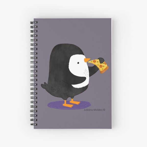 Steve Penguin loves Pizza! Spiral Notebook