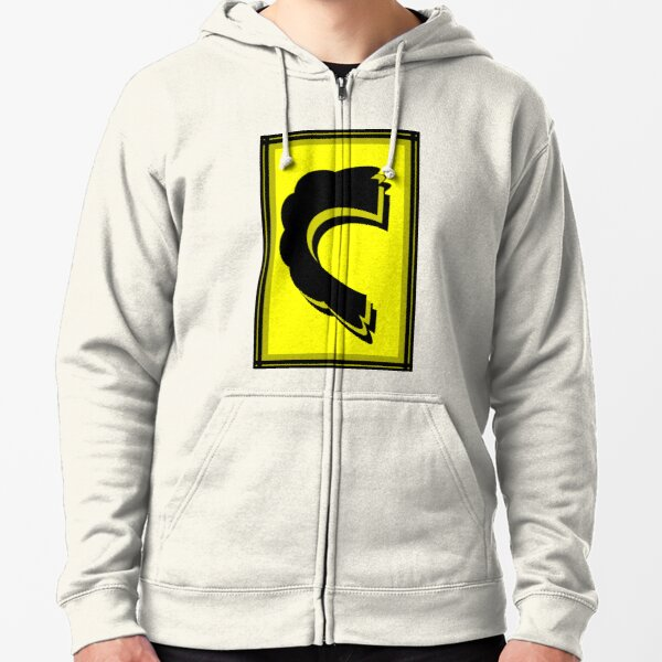 The Alphabet  The letter C Zipped Hoodie