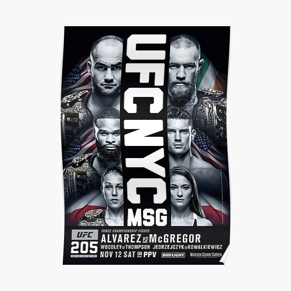 UFC 204: Cartel del evento oficial (HQ) de Alvarez vs McGregor Póster