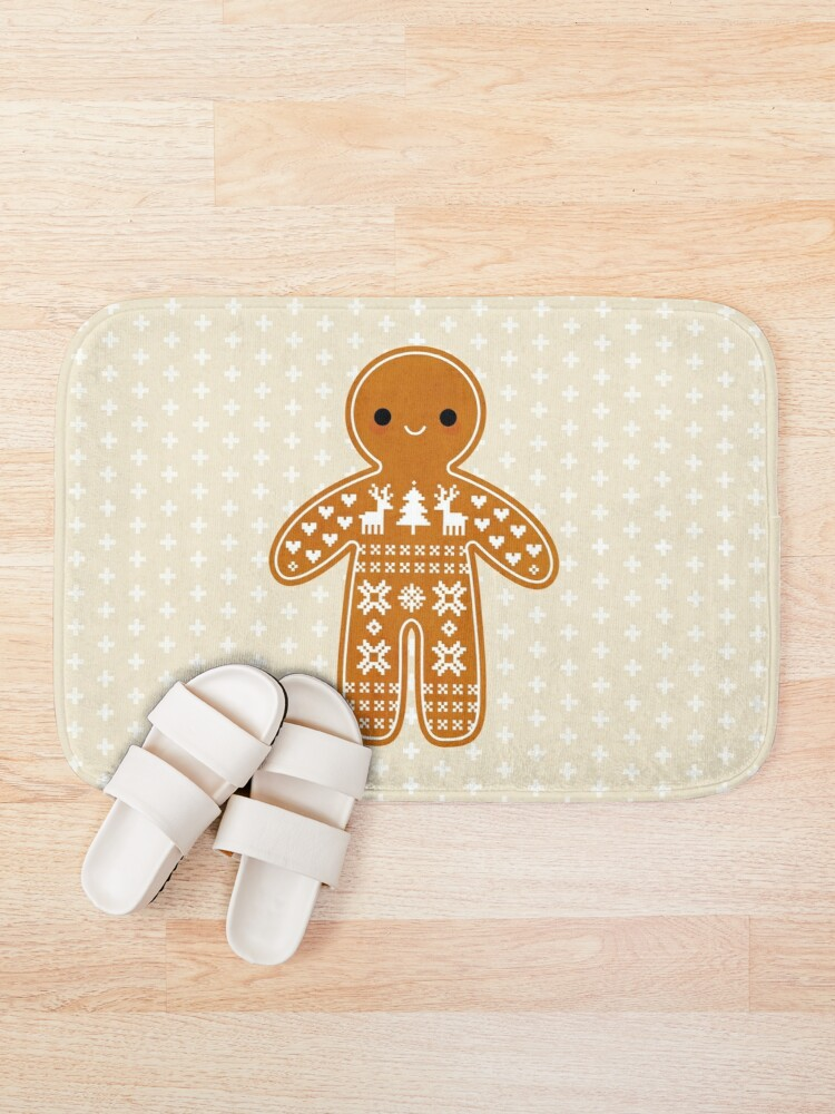 Alternate view of Sweater Pattern Gingerbread Cookie Bath Mat
