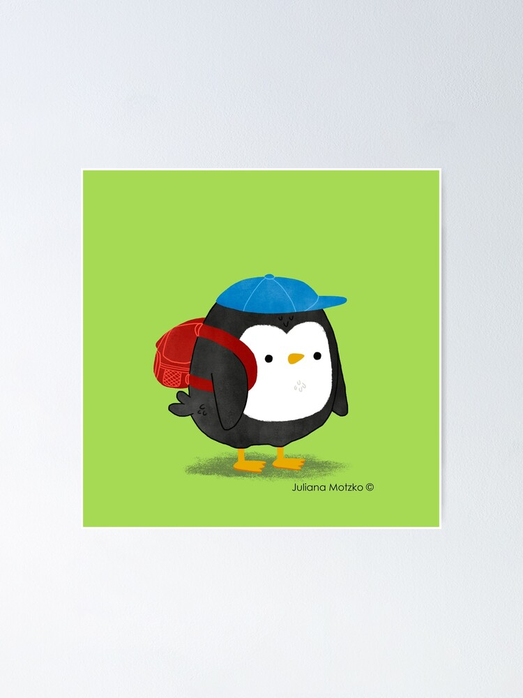Alternate view of Jimmy Penguin goes to school Poster