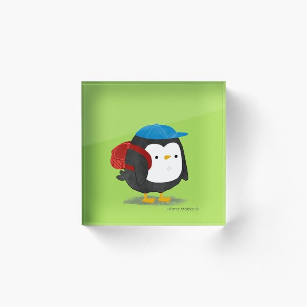 Jimmy Penguin goes to school Acrylic Block