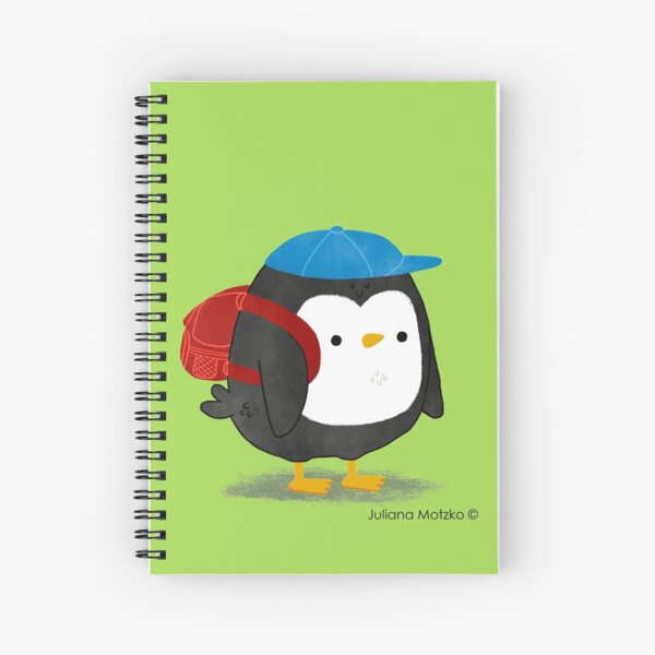 Jimmy Penguin goes to school Spiral Notebook