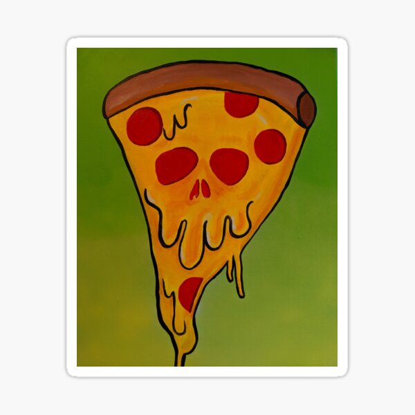 Pizza skull Sticker