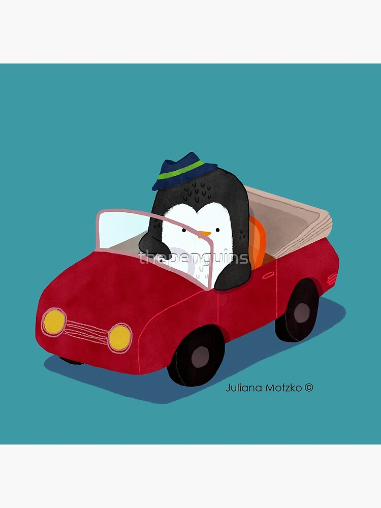Steve loves driving his car by thepenguins