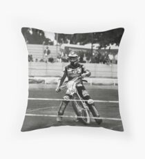 Speedway knight Throw Pillow