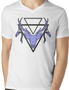 Triangle Deer H 2 Mens V-Neck T-Shirt