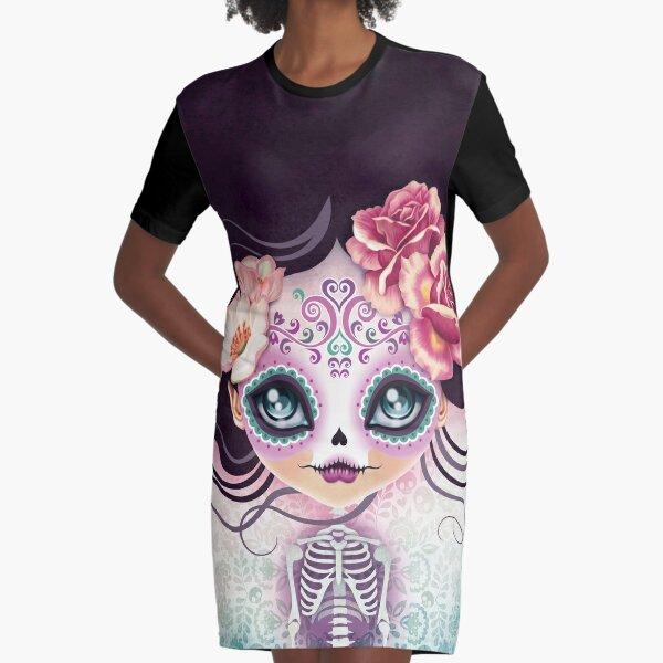 Camila Huesitos - Sugar Skull Graphic T-Shirt Dress