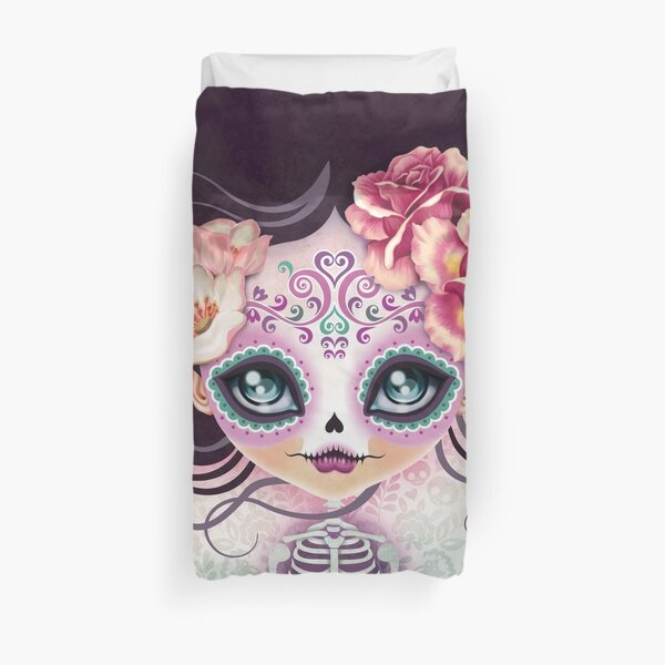 Camila Huesitos - Sugar Skull Duvet Cover
