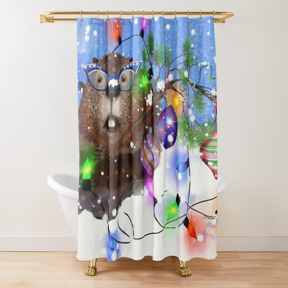 Happy Holidays from Mavis Shower Curtain