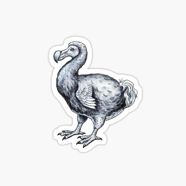 Dodo Bird Ink Drawing Sticker