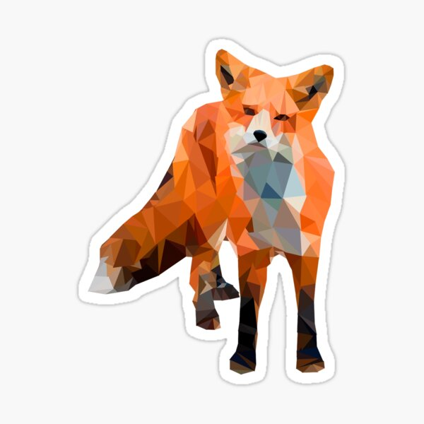Polly the Fox Sticker