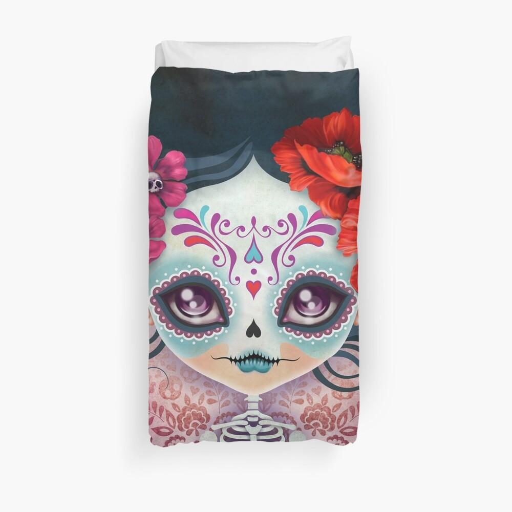 Amelia Calavera - Sugar Skull Duvet Cover
