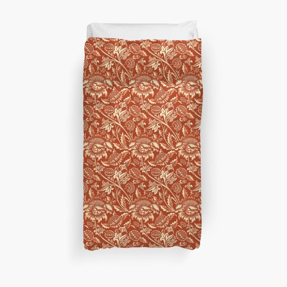 William Morris Sunflowers, Mandarin Orange    Duvet Cover