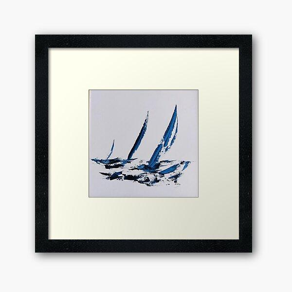 blue sailing Impression encadrée