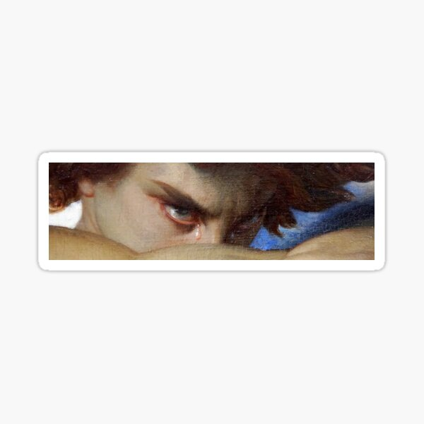 Fallen Angel - Alexandre Cabanel - The Devils Eyes shirt Sticker