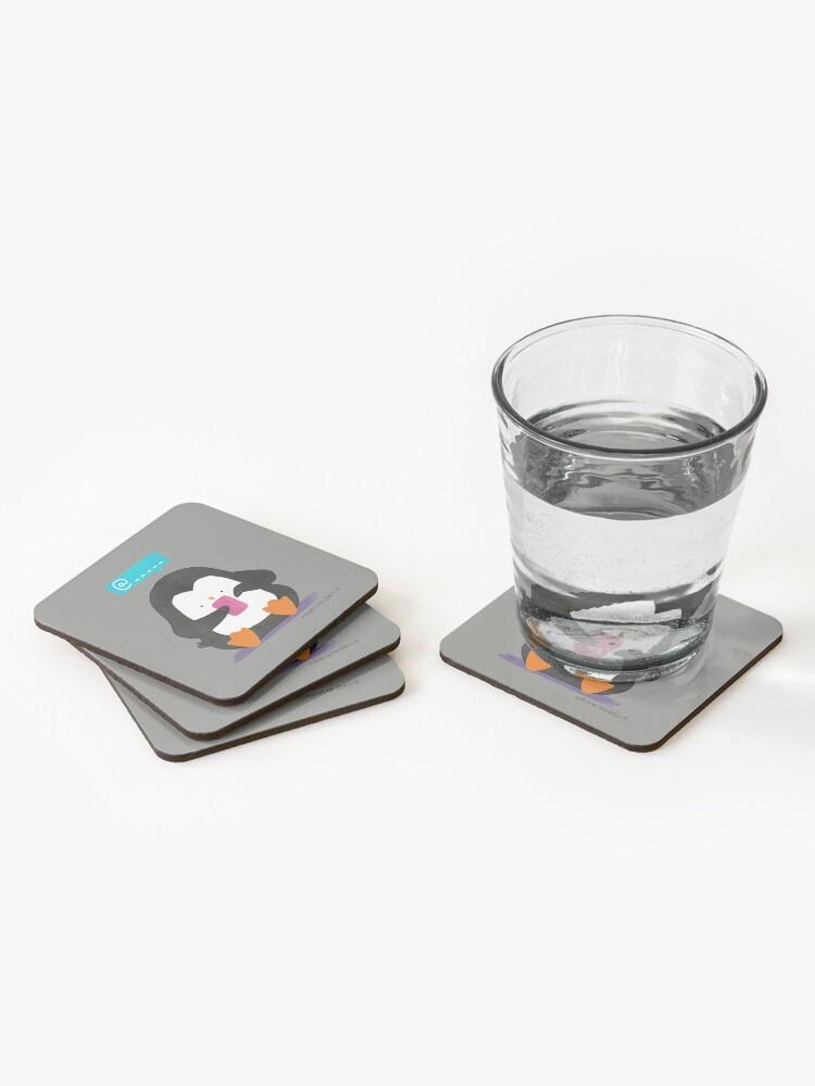 Alternate view of Social Media Penguin Coasters (Set of 4)