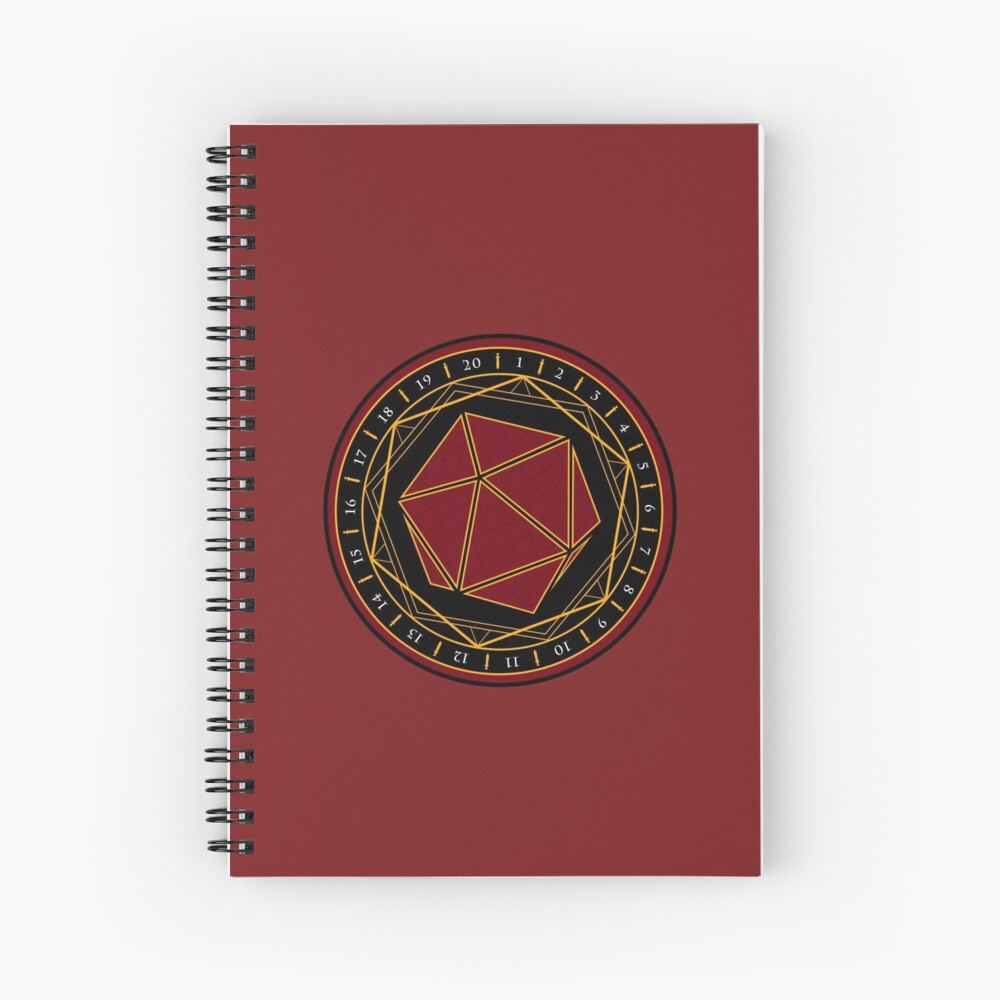Twenty Sides of Fate (Red) Spiral Notebook