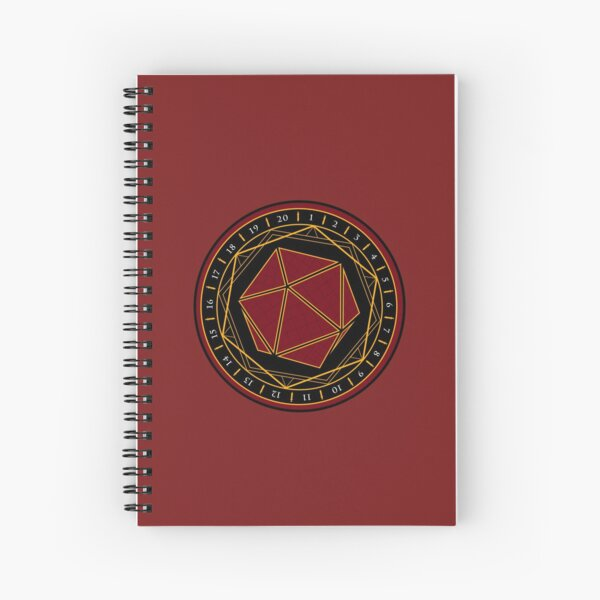 Twenty Sides of Fate (Red) Spiral Notebook