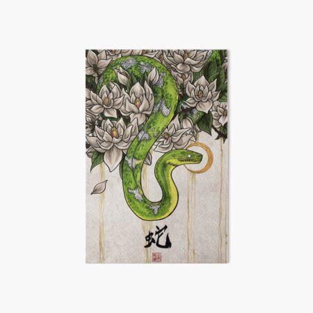 Snake Art Board Print