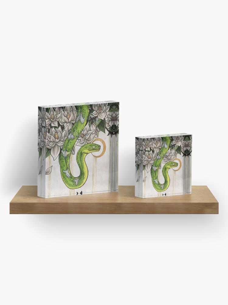 Alternate view of Snake Acrylic Block