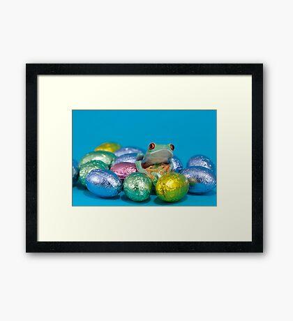 Easter frog Framed Print