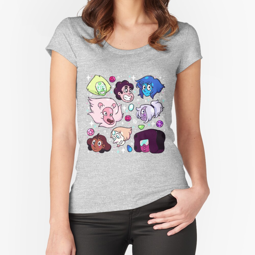 Crystal Gem Friends Fitted Scoop T-Shirt