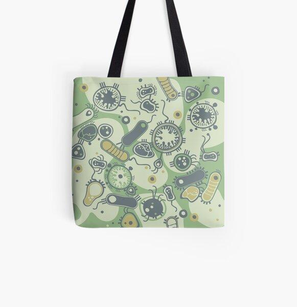 Eukaryote (green) All Over Print Tote Bag