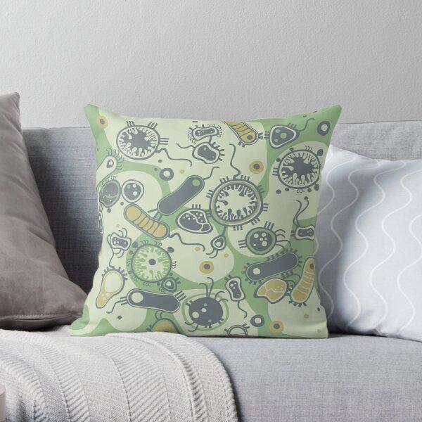 Eukaryote (green) Throw Pillow