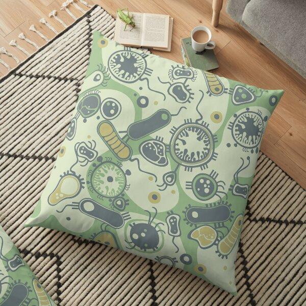 Eukaryote (green) Floor Pillow