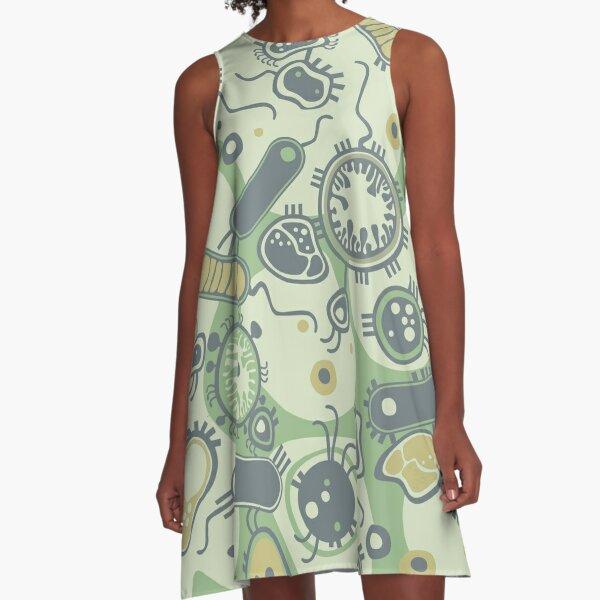 Eukaryote (grün) A-Linien Kleid