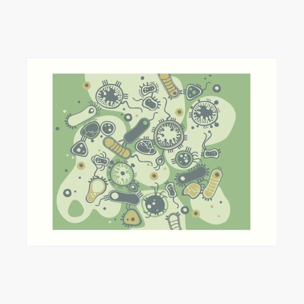 Eukaryote (green) Art Print