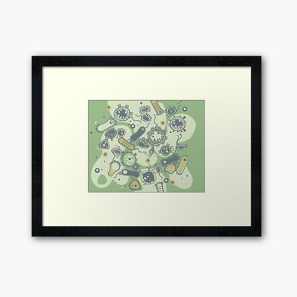 Eukaryote (grün) Gerahmter Kunstdruck
