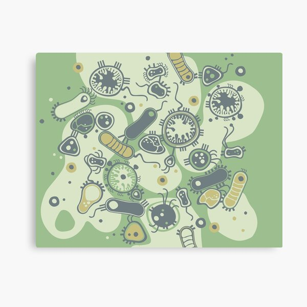 Eukaryote (green) Canvas Print