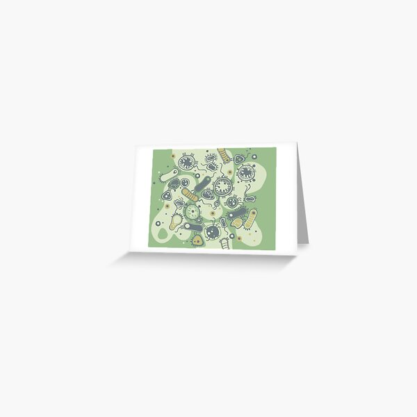 Eukaryote (green) Greeting Card